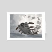 Tapeworm - Art Card by Sady M. Izé