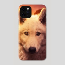 wolf  sunset - Phone Case by ethereal  designs