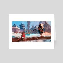 Sekiro vs Gyoubu Masataka Oniwa - Art Card by Aizik