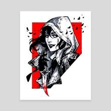 Inktober: Assassin - Canvas by Maria Dimova