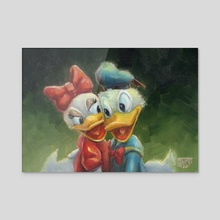 Duck Love - Acrylic by Kendall Stump