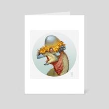 Pachycephalosaurus portrait - Art Card by Alberto Camara