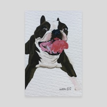 Smiley Doggo - Canvas by Ashley Hills