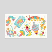 Jelly Polychaete worm - Acrylic by pikaole
