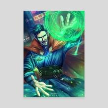 Dr. Strange - Canvas by Qi Xyuan Tan