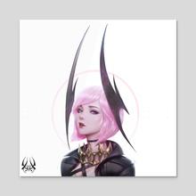 Selena - Pink Devil - Acrylic by Zeronis