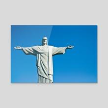 Christo Redentor  - Acrylic by Rita Labib