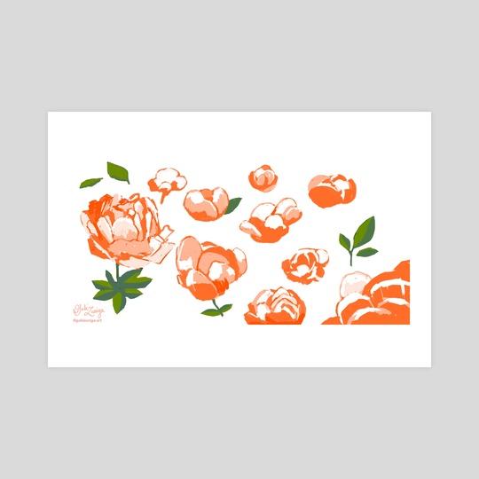 peonies (orange) by Gabi Zuniga
