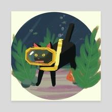 cat - Canvas by Sky Kusunoki