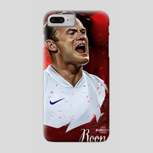 Wayne Rooney - Phone Case by Dmitry Belov