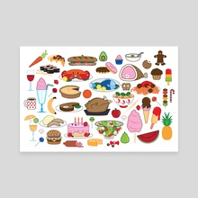 Food Glorious Food - Canvas by Jennifer Smith