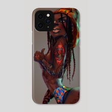 Kente Lady - Phone Case by Afenyi Arhin