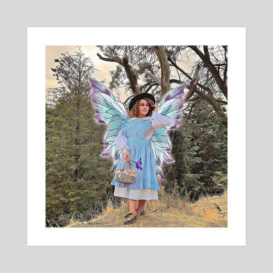 Blue butterfly by aliasghar shabani