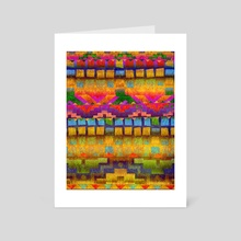 colorful geometric background - Art Card by Kostin Sergey
