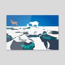 Eternal winter 4 - Acrylic by Michal Eyal