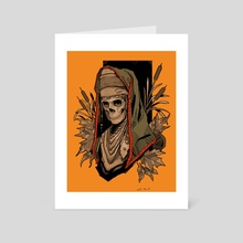 Fall Skull Lady - Art Card by Scott Buoncristiano