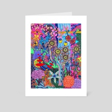 Abstract Forest - Art Card by Olivia Hathaway