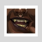 Gold Fangs  - Art Print by Arryn Jubilee Newton