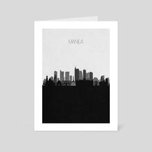 Manila - Art Card by Deniz Akerman