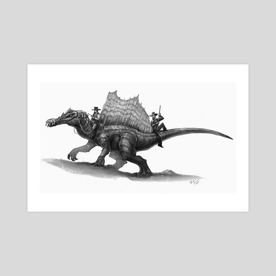 Spinosaurus Posse by Shaun Keenan