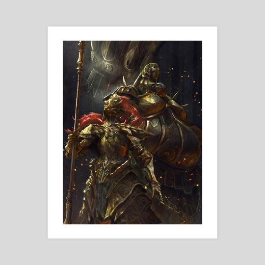 Dragon Slayer Ornstein and Executioner Smough by Sarayu Ruangvesh