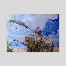 Take Me Somewhere Nice - Canvas by Nadaن
