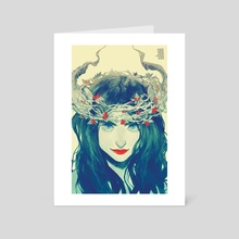 Strawberry Crown - Art Card by Rita Dmitrijenko