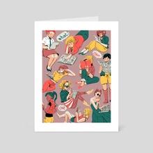 Let's read. - Art Card by kirstie belle d