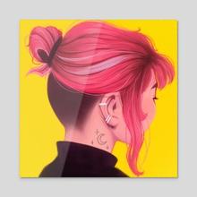 witch bun - Acrylic by Joy Cardaño