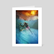 Underwater Dancer - Art Card by Rafal Makiela
