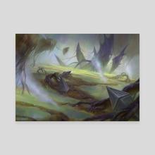 Magic: the Gathering - Malakir mire - Canvas by Marta Nael