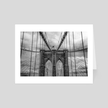 Brooklyn Bridge - Art Card by Brian Fisher