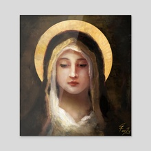 Virgin in Black - Acrylic by Joseph Feely