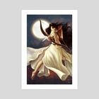 Goddess of the Moon - Art Print by Christy Tortland