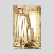 Hollins St. Rowhouse - Acrylic by Kenard Pak