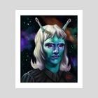 Space Traveler | Talas - Art Print by Ashley Hinze