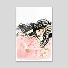 Lounging - Acrylic by Gina Schiappacasse