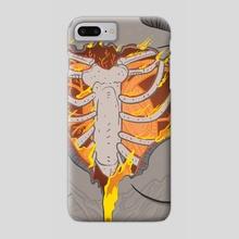 Heart on Fire - Phone Case by Alejandra Wilson