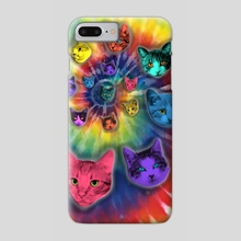 TIE DYE CATS - Phone Case by Gloria Sánchez