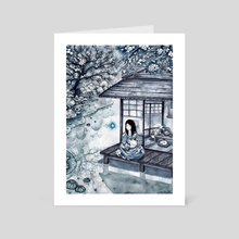 Tea House - Art Card by nat zufall