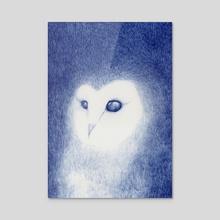 Barn owl - Acrylic by Galeria Ginkgo