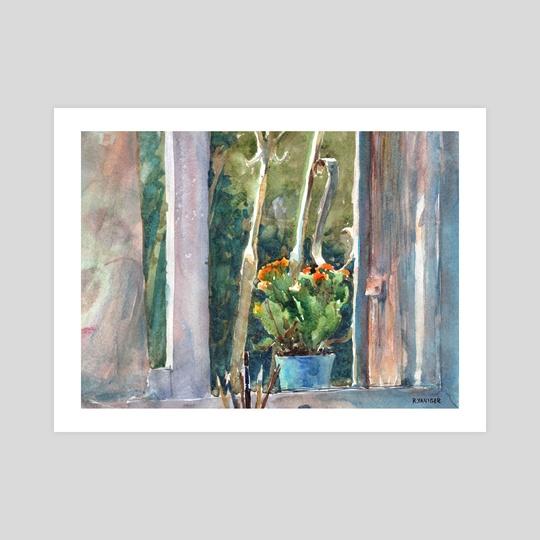 Studio window sill by Rafael Yaniger
