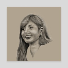 Lisa of Blackpink - Canvas by Kirsten Jamilla