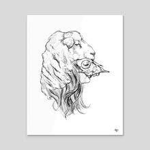 The Lamb - Acrylic by Kate Trish