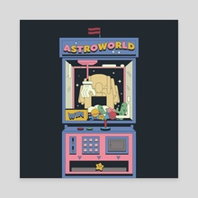 Astroworld - Canvas by Defaced  Studio