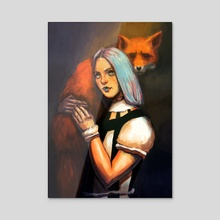 The fox - Acrylic by Edmund Duhonský