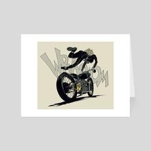 Motor Girl - Art Card by Robert Sammelin