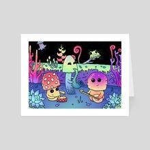 Mushroom-Band - Art Card by nuclear buggirl