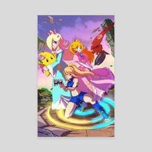 Super Smash Sisters - Canvas by D.J. Kirkland