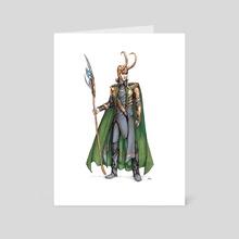 Loki  - Art Card by Darina Nossova